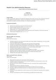 Sample Administrative Resume Emelcotest Com