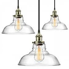 3 pack pendant light hanging glass ceiling mounted chandelier fixture industrial edison vintage style