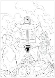 Coloring Pages Marvel Superhero Coloring Pages For Adults