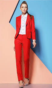 compare prices on womens pantsuit online shopping buy low price 2015 formal pantsuits custom made red women suits pants and top sets work wear clothes