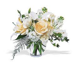 white roses and lilies from fl expressions in oswego il