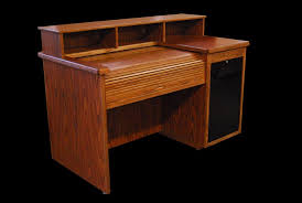 wood rolltop mixing console desk