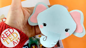 easy elephant bookmark diy corner bookmark designs red ted art