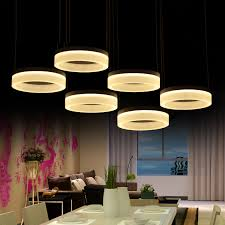 home office led ring pendant lights post modern large led commercial lighting living room reading work light 110 240v lamparas in pendant lights from lights