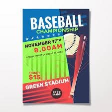 Free Baseball Flyer Template Baseball Flyer Template Vector Premium Download