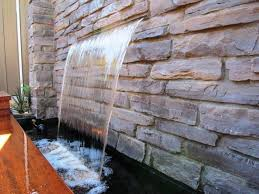 10 stoned water walls for the outdoors