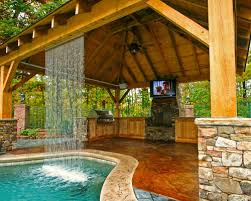 Pool And Outdoor Kitchen Designs