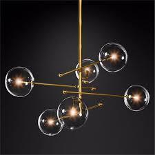 nordic glass crystal led chandelier lighting bedroom living room chandelier interior pendant lamps glass ball hanging lamp avize island lighting hanging