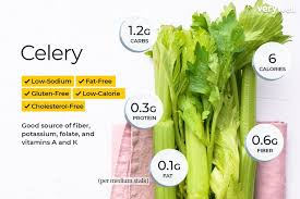 Food Celery Chart Celery Nutrition Facts Calories Carbs And Health Benefits