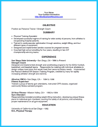 Trainer Job Description Resume It Is Relatively Easy To Write An Athletic Training Resume To Write 3