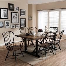 9 pc dining room set inspirational baxton studio longford black wood and metal vine industrial 7