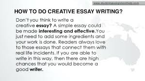 how to start a creative writing essay creative writing sample  how to start a creative writing essay how to do creative essay writing 2 how start how to start a creative writing essay