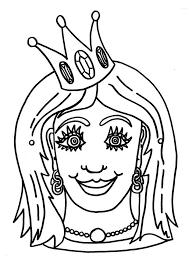 Kleurplaat Masker Prinses Afb 9185 Images