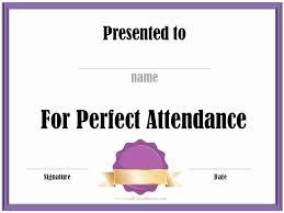 Attendance Award Template Perfect Attendance Award Template Inspirational Free