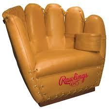 rawlings leather baseball glove chair  the green head