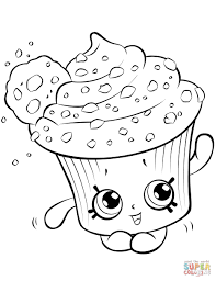 Creamy Cookie Cupcake Shopkin Coloring Page Pages 1 Futuramame