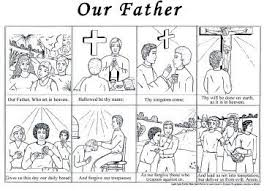 Catholic Mosaic Worksheets Guardian Angel Our Father Prayer