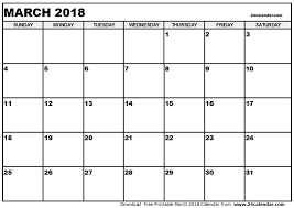 blank 2018 calendar calendar march 2018 print 2018 printable calendar