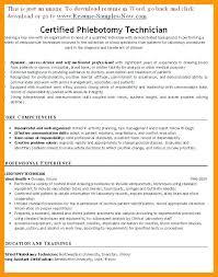 Resume For Phlebotomy Technician Phlebotomist Resume Examples