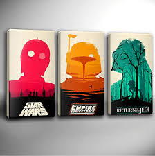 image is loading star wars trilogy triple panel giclee canvas wall  on star wars canvas panel wall art with star wars trilogy triple panel giclee canvas wall art choose your