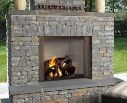 42 castlewood outdoor wood burning fireplace