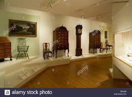 Worcester Art Museum early American furniture exhibit Stock