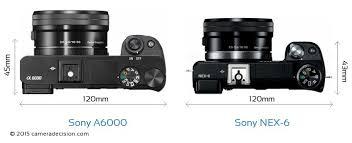 sony nex. sony a6000 vs nex-6 camera size comparison - top view nex
