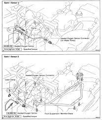 Of location of oxygen sensors club lexus s