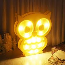 Night Light For Children S Bedroom Sylive Novelty Animal Led 3d Night Light Owl Decoration