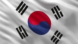 Korea 100 free Of Flag Gently Stock Royalty Footage Video South zwEUq0
