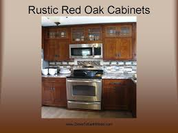 rustic red oak mission cabinets