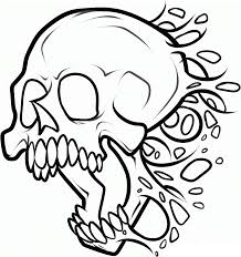 Small Picture Scary skeleton coloring pages printable ColoringStar