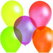 <b>Набор шаров воздушных</b>, 100 штук, 25 см, флуоресцентные ...