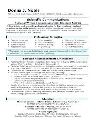 Scientific Resume Template Research Assistant Resume Example
