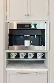 more design build built in coffee station with miele coffee maker and monogrammed cups built coffee bar makeover