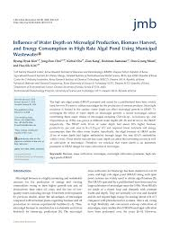 Design Of Raceway Ponds For Producing Microalgae Pdf Influence Of Water Depth On Microalgal Production