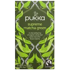 Teabags - <b>Supreme Matcha Green</b>, Pukka <b>20</b> bags | Garden Organics