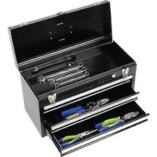 portable tool box metal. waterloo mp-2012bk metal portable 3-drawer chest - black tool box t