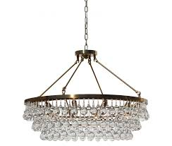 celeste glass drop crystal chandelier brass