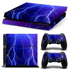 Ps4 Designs 2019 Blue Lightning Ps4 Designer Skin Decal For Playstation 4 Console And Wireless Dualshock 4 Controller 1101 From Colorfultech 7 19 Dhgate Com