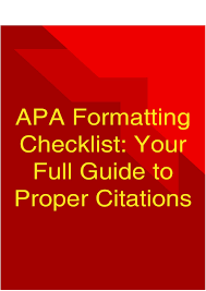Apa Formatting Checklist Your Full Guide To Proper Citations Pages
