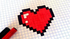 How To Draw a Kawaii Heart Рисунки по клеточкам как рисовать ...