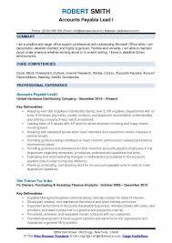 Accounts Payable Resume Summary Accounts Payable Lead Resume Samples Qwikresume