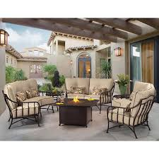 fire pit table with chairs. Cortez 6-piece Seating Set With Fire Pit Table Chairs E
