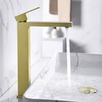 Stylish Luxury Single <b>Handle One Hole</b> Brass Bathroom Vessel Sink ...