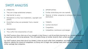 Disney SWOT Analysis by abby telford on Prezi Edraw Walt Disney