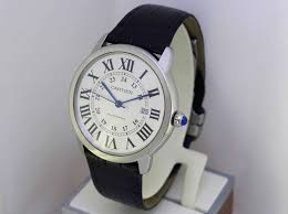 cartier ronde solo xl w6701010 automatic black leather band 42mm wrisch