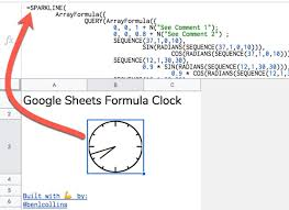 Circle Formula Chart Google Sheets Formula Clock