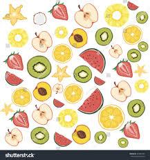 Fruit Pattern Best FRUIT PATTERN FRUIT BACKGROUND VECTOR ILLUSTRATION Stock Vector