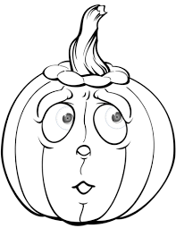 Small Picture Scared Pumpkin coloring page Free Printable Coloring Pages